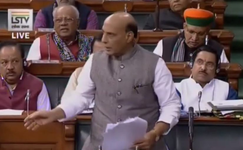 Raksha Mantri Shri Rajnath Singh reply on export of defence equipment on 11 Dec 2019