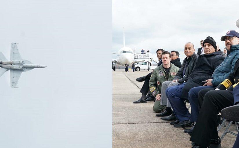 रक्षा मंत्री श्री राजनाथ सिंह ने अमरीका के ओशियाना और नॉरफ्लॉक्स नौसैनिक अड्डों का दौरा किया