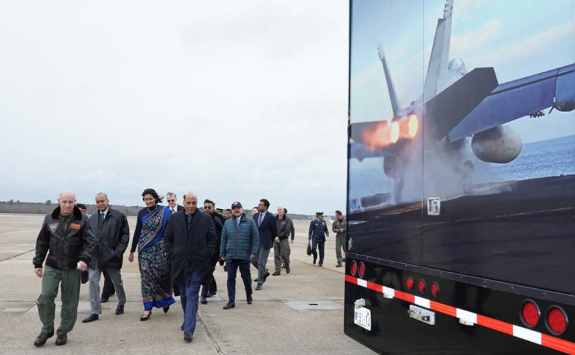 Raksha Mantri Shri Rajnath Singh visits Naval Air Station Oceana & Naval Station Norfolk during his US visit