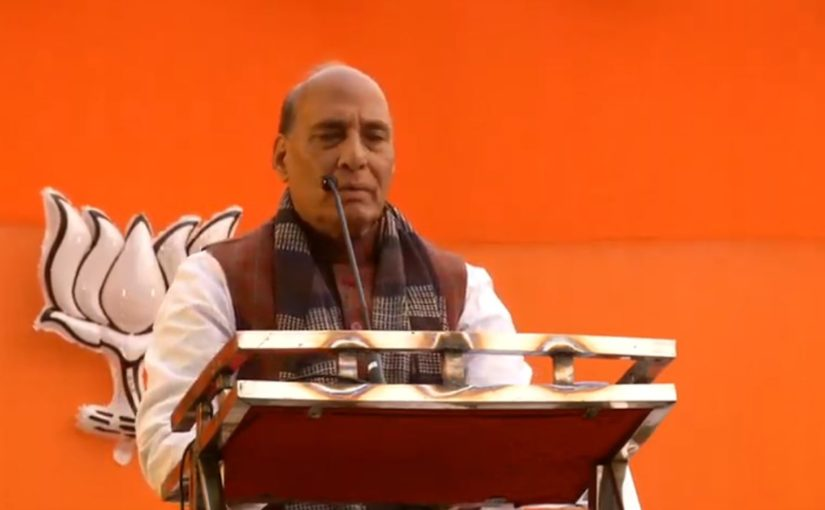 RM Shri Rajnath Singh addresses public meeting at Kalyanpuri Bus Stand, Kalyanpuri, Delhi