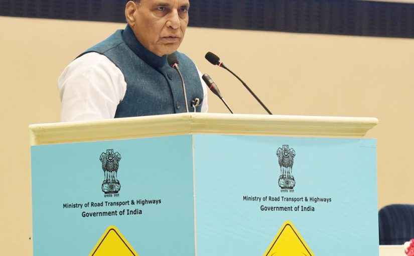 The Union Minister for Defence, Shri Rajnath Singh addressing at the Road Safety Stakeholders Meet, in New Delhi on January 13, 2020.