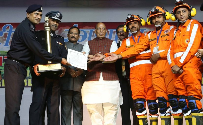 Raksha Mantri Shri Rajnath Singh gives away awards related to Republic Day 2020