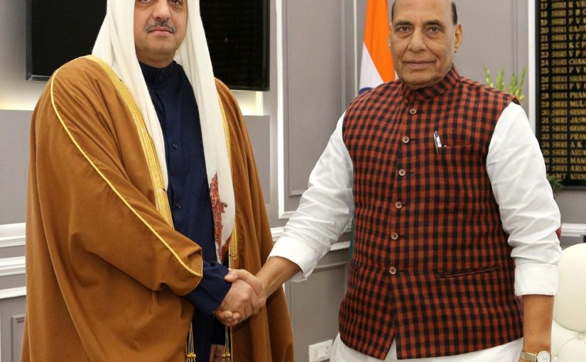 Raksha Mantri Shri Rajnath Singh holds delegation-level talks with Qatar's Deputy PM & Minister of State for Defense Affairs
