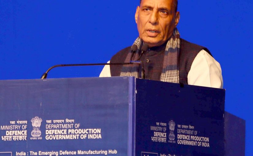 DefExpo would promote Make in India and help in establishing India as a Defence Manufacturing hub: Raksha Mantri Shri Rajnath Singh at the inaugural of DefExpo 2020
