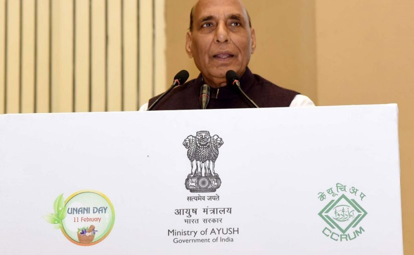 Shri Rajnath Singh addressing at the Unani Day Celebration-cum-International Conference on Unani Medicine, organised by the Central Council for Research in Unani Medicine, Ministry of Ayush