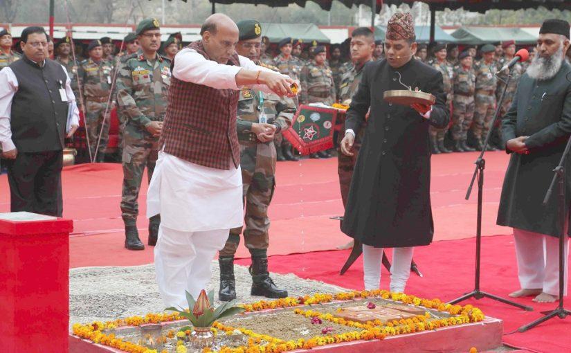 Raksha Mantri Shri Rajnath Singh lays foundation stone of Thal Sena Bhawan at Delhi Cantt
