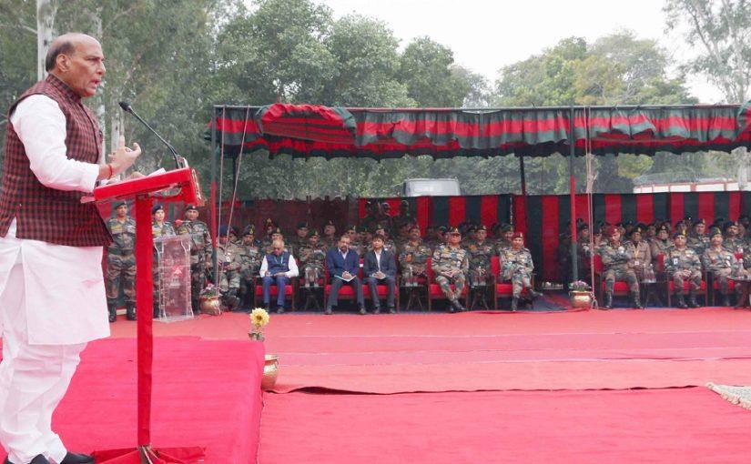 रक्षा मंत्री श्री राजनाथ सिंह ने दिल्ली कैंट में थल सेना भवन की आधारशिला रखी