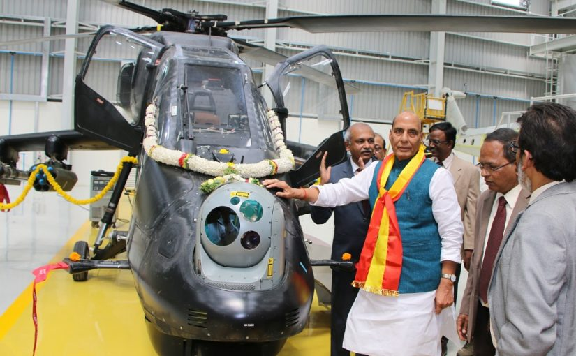 Raksha Mantri Shri Rajnath Singh inaugurates new Light Combat Helicopter Production Hangar at HAL Complex in Bengaluru