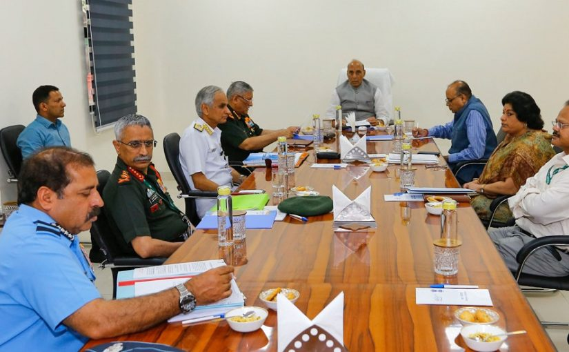 Raksha Mantri Shri Rajnath Singh reviews MoD's efforts to fight COVID-19
