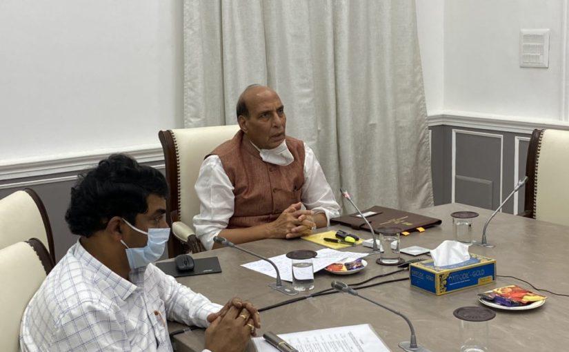 Raksha Mantri Shri Rajnath Singh inaugurates DRDO developed Mobile Laboratory to test COVID19 samples