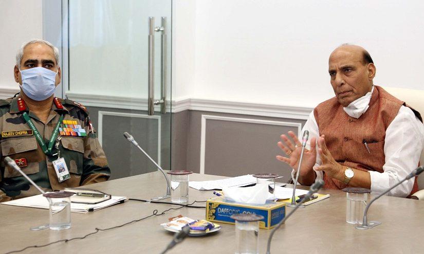 Raksha Mantri Shri Rajnath Singh reviews contribution of NCC in nation's fight against COVID-19