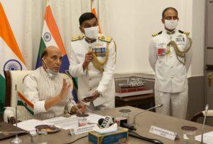 Raksha Mantri Shri Rajnath Singh commissions Indian Coast Guard Ship 'Sachet' and two interceptor boats