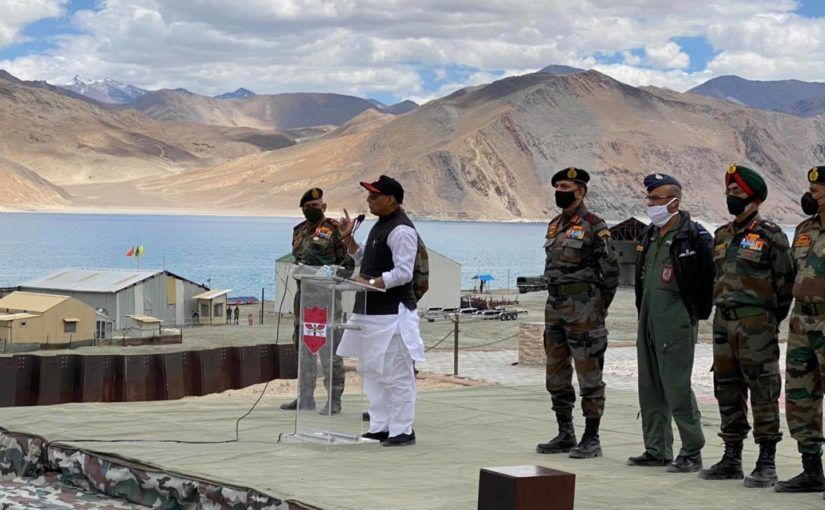 After Ladakh visit, Rajnath tweets video of meeting with soldiers who took on PLA