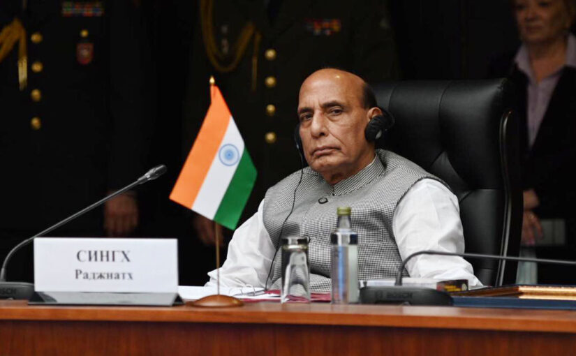 Raksha Mantri Shri Rajnath Singh addresses Combined Meeting of Defence Ministers of SCO, CSTO & CIS Member States in Moscow