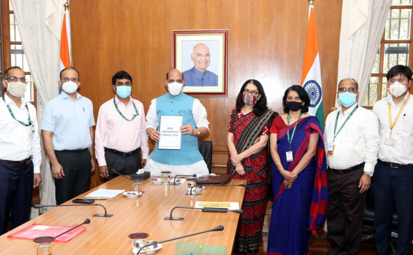 Raksha Mantri Shri Rajnath Singh releases DRDO Procurement Manual 2020