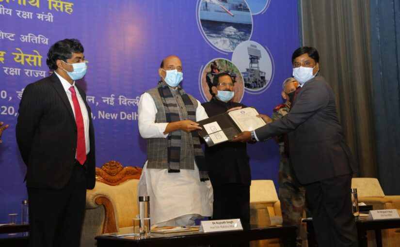 Raksha Mantri Shri Rajnath Singh hands over DRDO systems to Armed Forces Chiefs