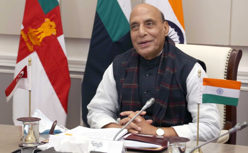 5th India-Singapore Defence Ministers Dialogue between Raksha Mantri Shri Rajnath Singh and Minister of Defence, Singapore Dr Ng Eng Hen