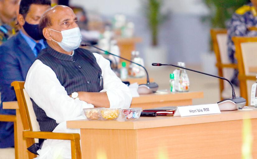 Raksha Mantri Confers with Combined Commanders