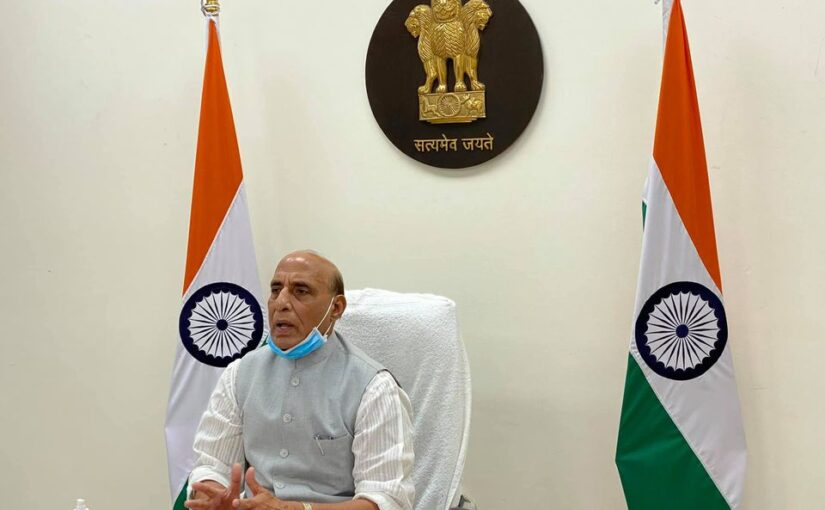 Raksha Mantri Shri Rajnath Singh holds second meeting to review efforts of MoD & Armed Forces to fight current COVID-19 crisis