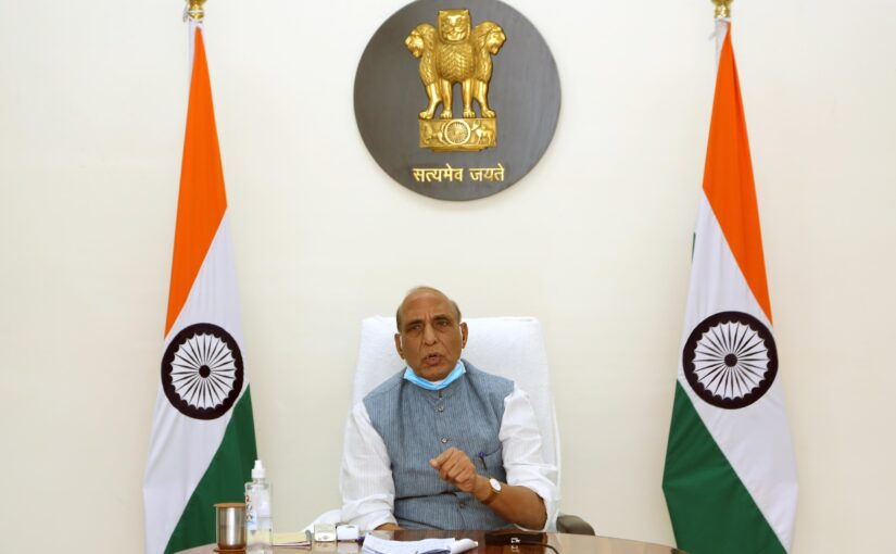 Raksha Mantri Shri Rajnath Singh reviews efforts of MoD, Armed Forces, DRDO & other Defence organisations in fighting the second COVID-19 wave